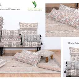 Jaipur Block Printed Cushion Rugs Furniture