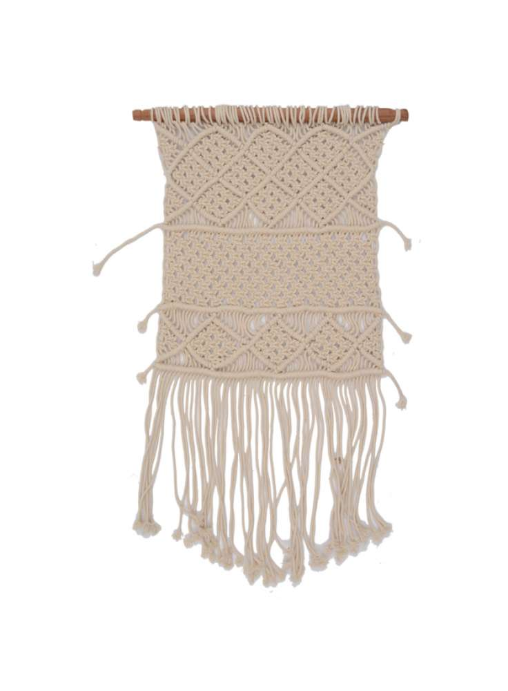 Handcrafted off-White Cotton Wall Hanging