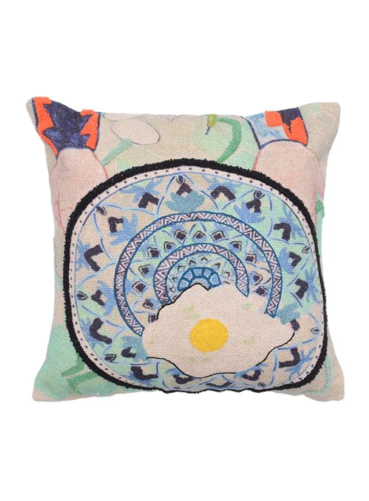 Multi Color Cotton Embroidery Cushion Cover