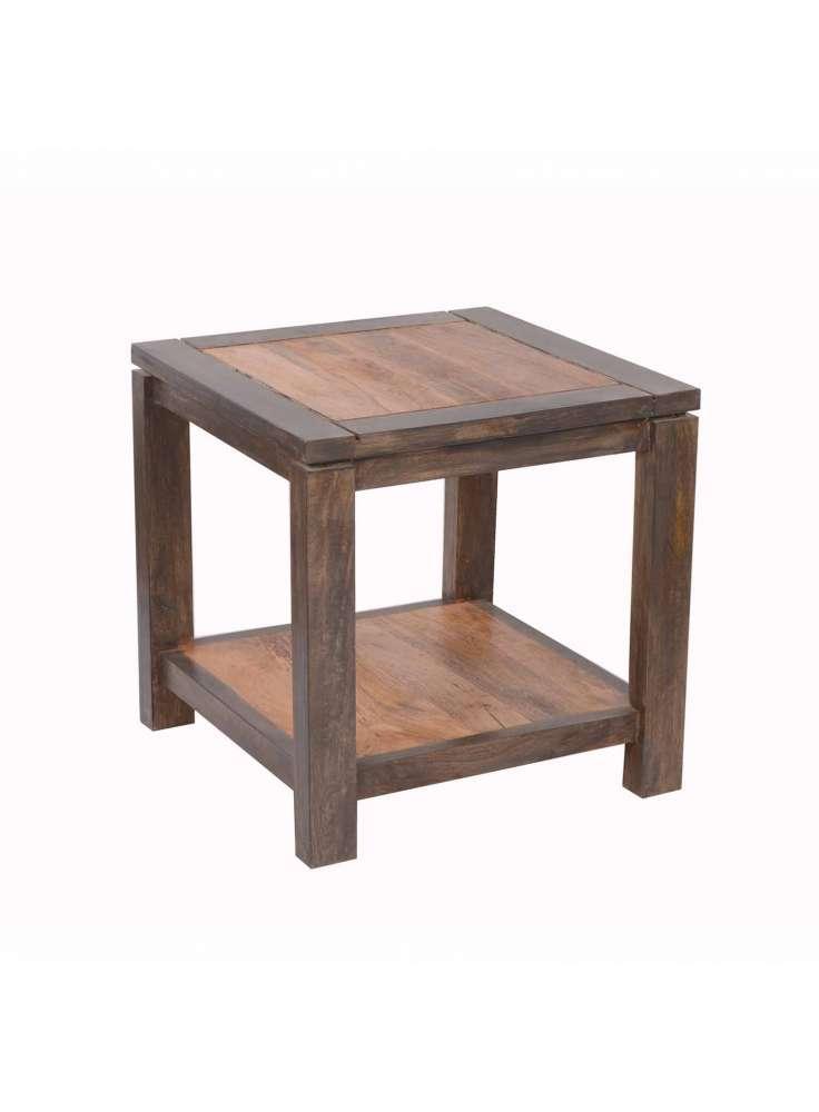 Natural Fibres Wooden End Table