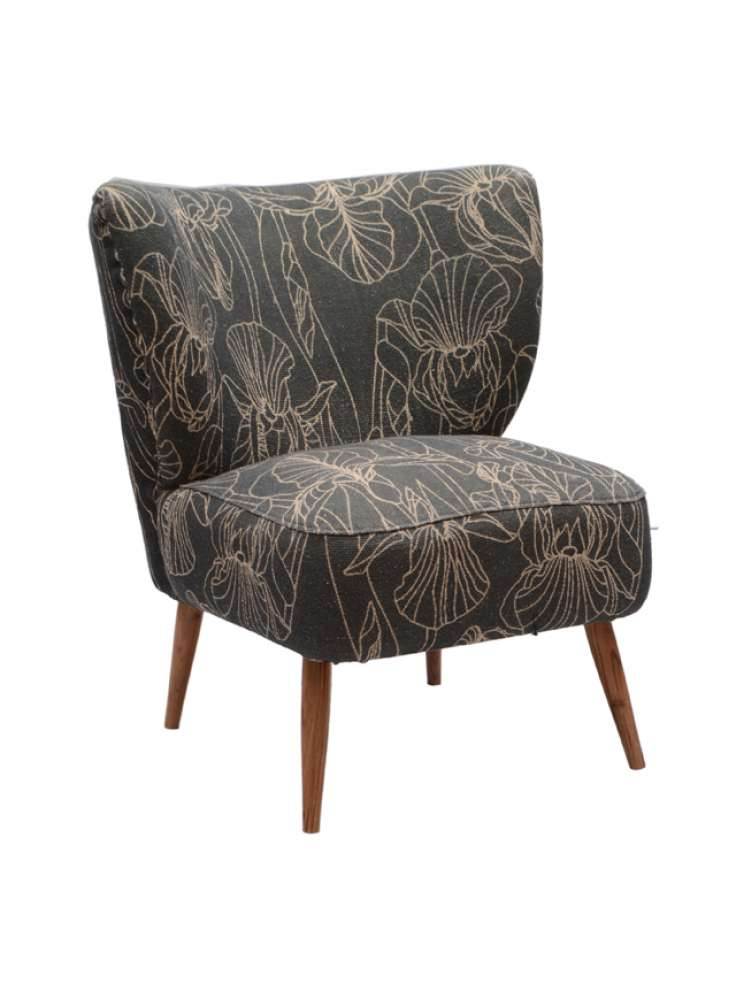 Wooden Upholstered Armless Chair