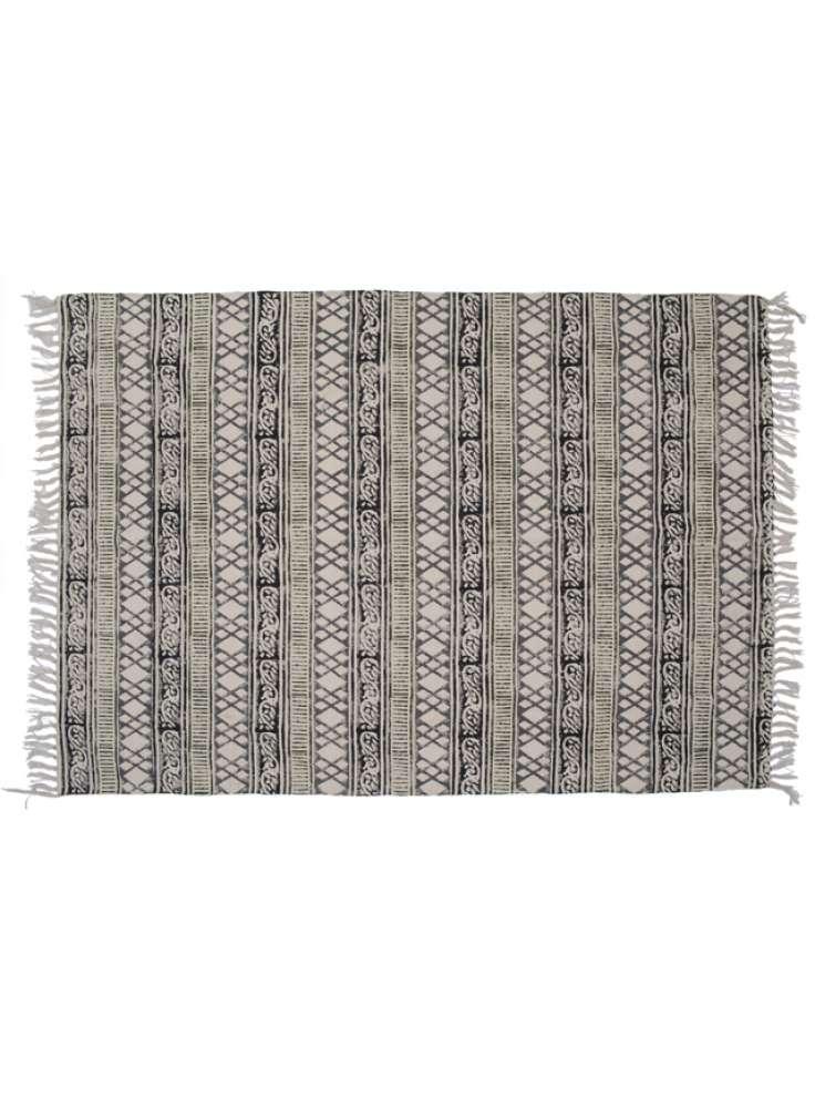 Jaipur printed area rug dhurrie