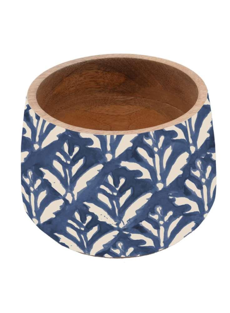 Unique Enamel Print Wooden Bowl