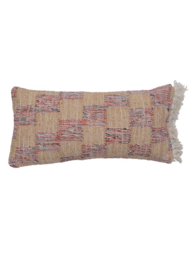 Wool Cotton Multi Color Pillow Cover