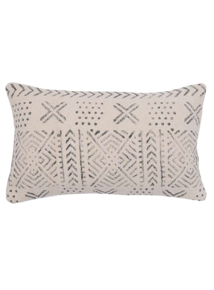 Cotton block printed pillow cover