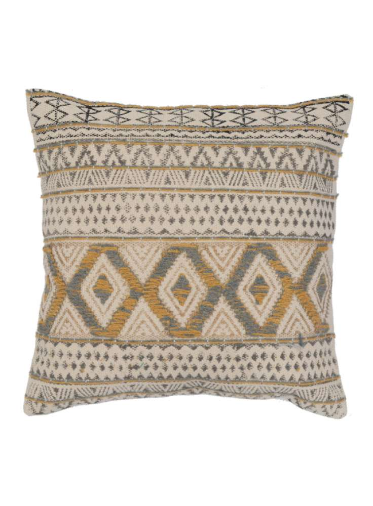 Embroidered Contemporary Cotton Cushion Cover