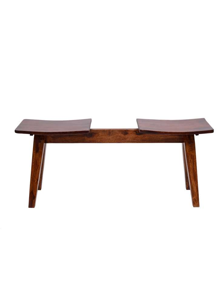 Solid Wood Two Seater Bench