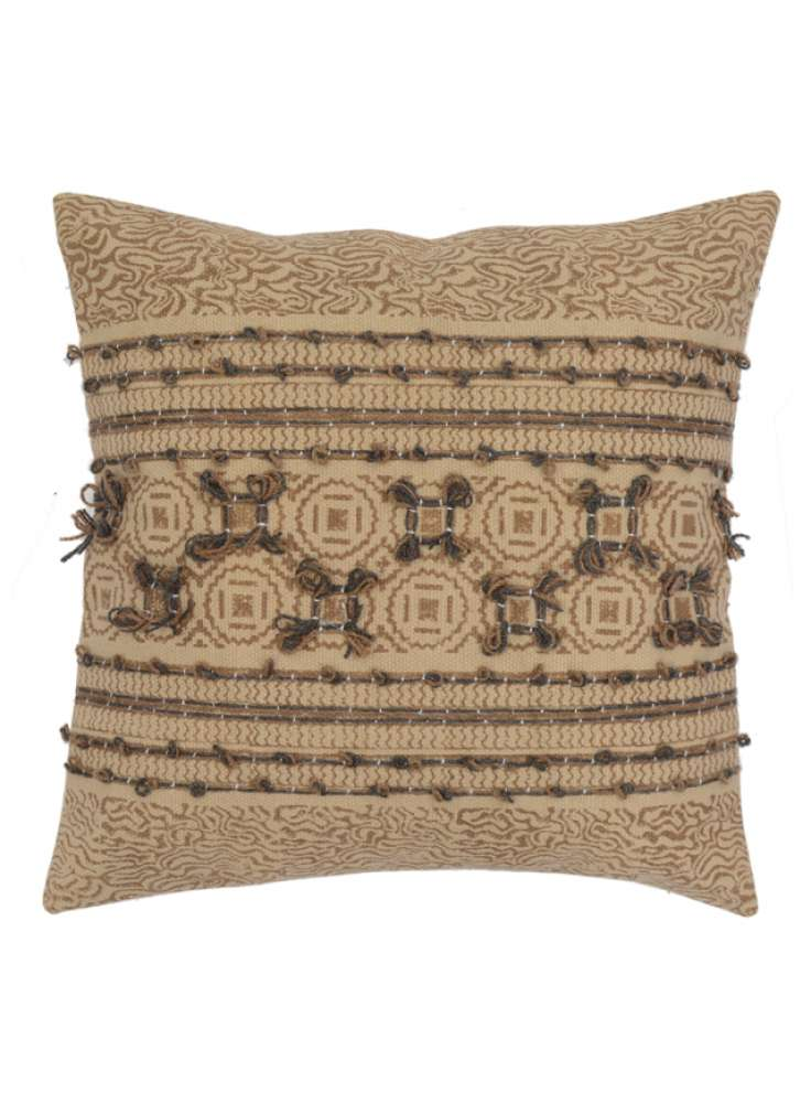 Embroidered traditional pattern cotton cushion cover