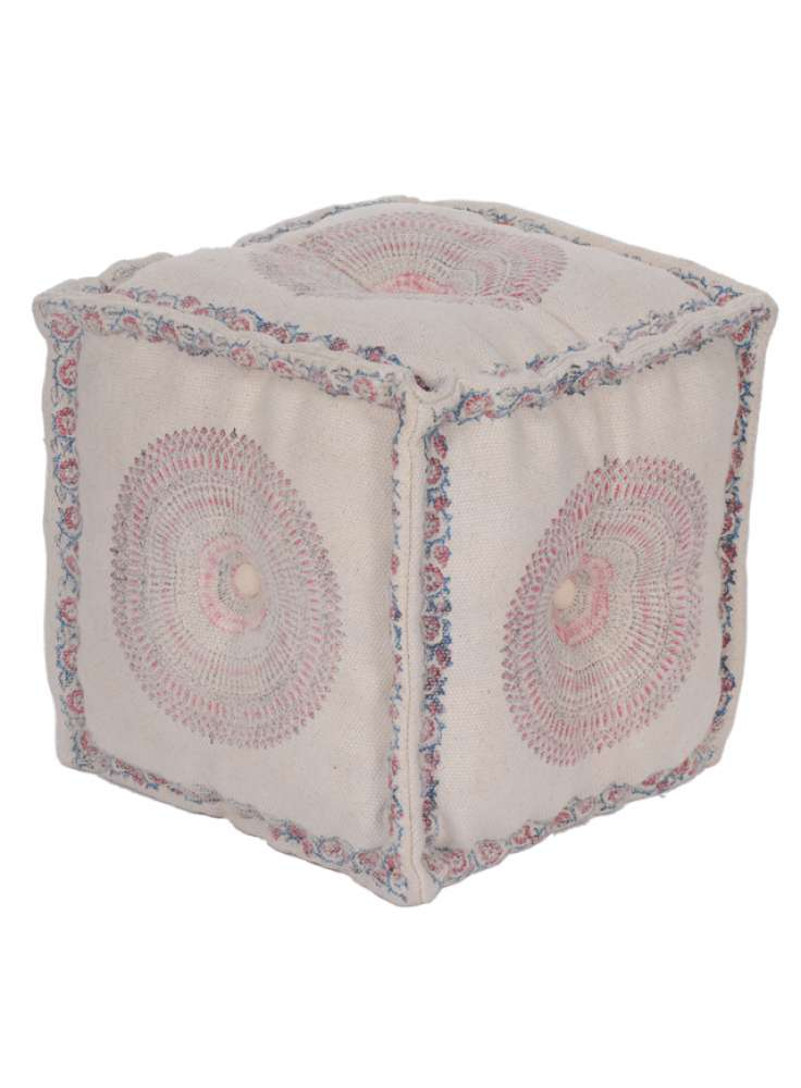 Decorative Printed Indoor Cube Pouf