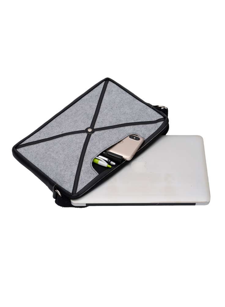 MacBook unisex sling felt bag