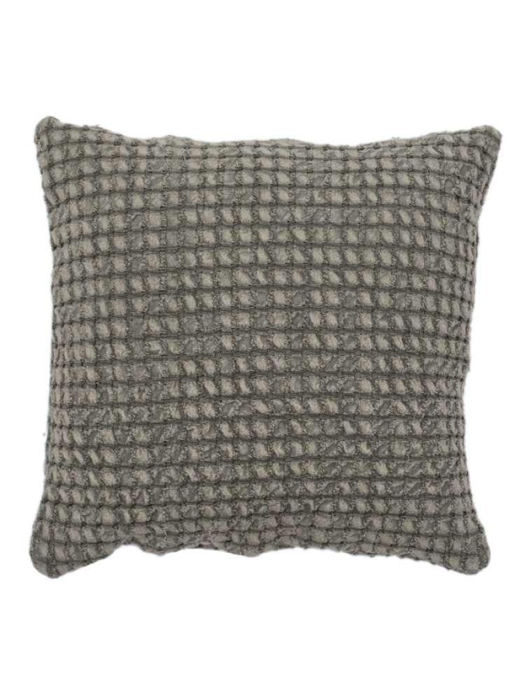 Woven Black Cotton Cushion Cover