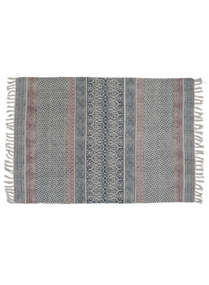 Cotton digital printed rug dhurrie