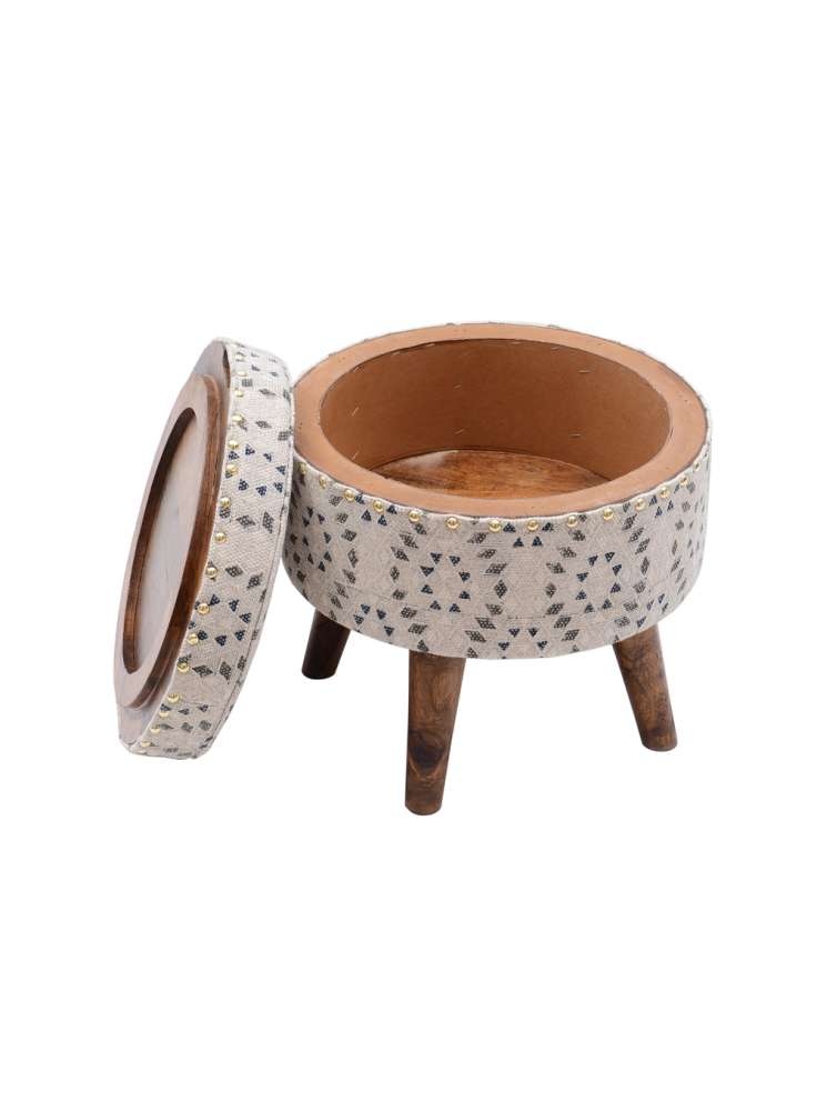 Upholstered storage ottoman furntiure stool