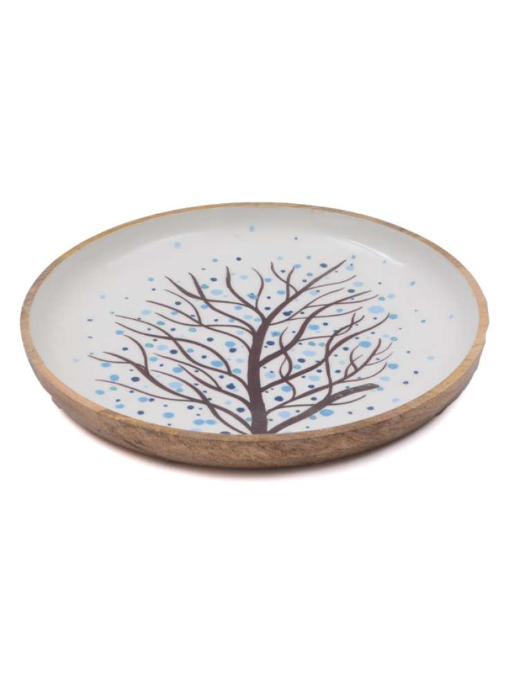 Wooden Printed Enamel Bowl