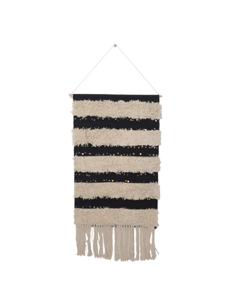 Woven Striped Cotton Wall Hanging