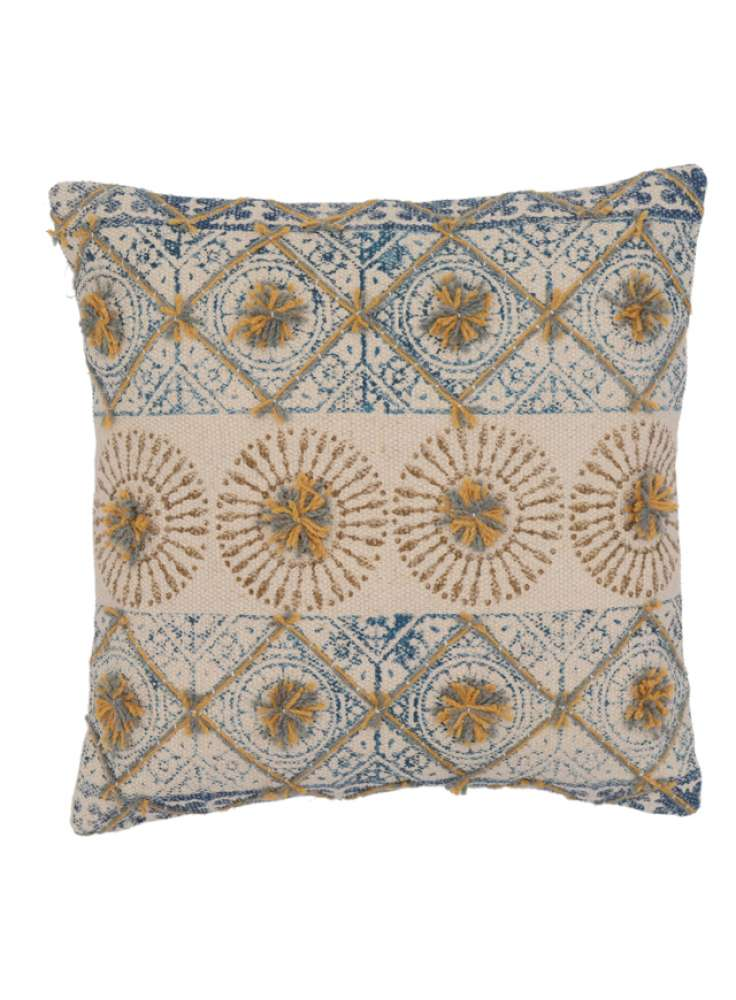 Printed Embroidered designer cotton cushion cover