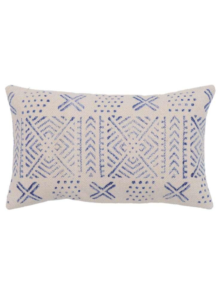 Cotton handblock print cushion cover
