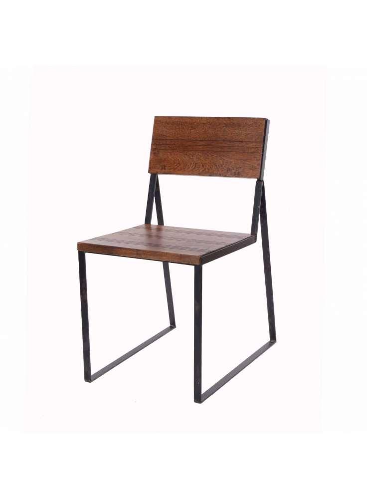 Natural Fibres Iron Square Chair Furniture