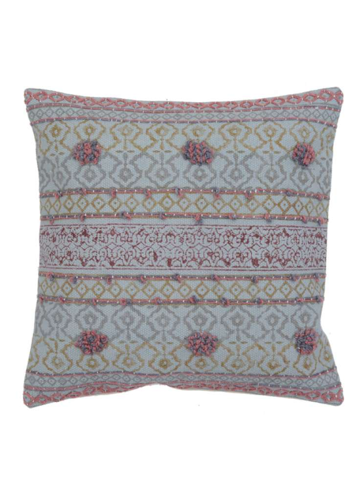 Embroidery Design Handcrafted Cotton Cushion Cover