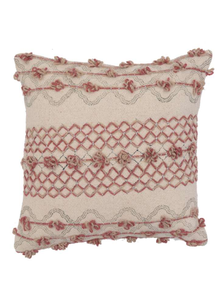 Embroidered Indoor Cotton Cushion Cover
