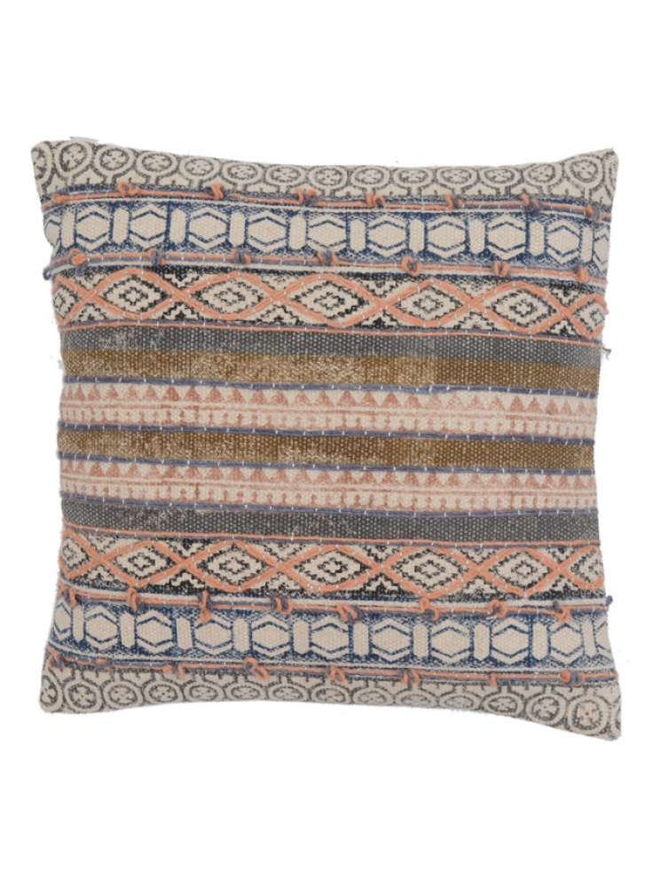 Traditional Geometric Design Cotton Cushion Cover