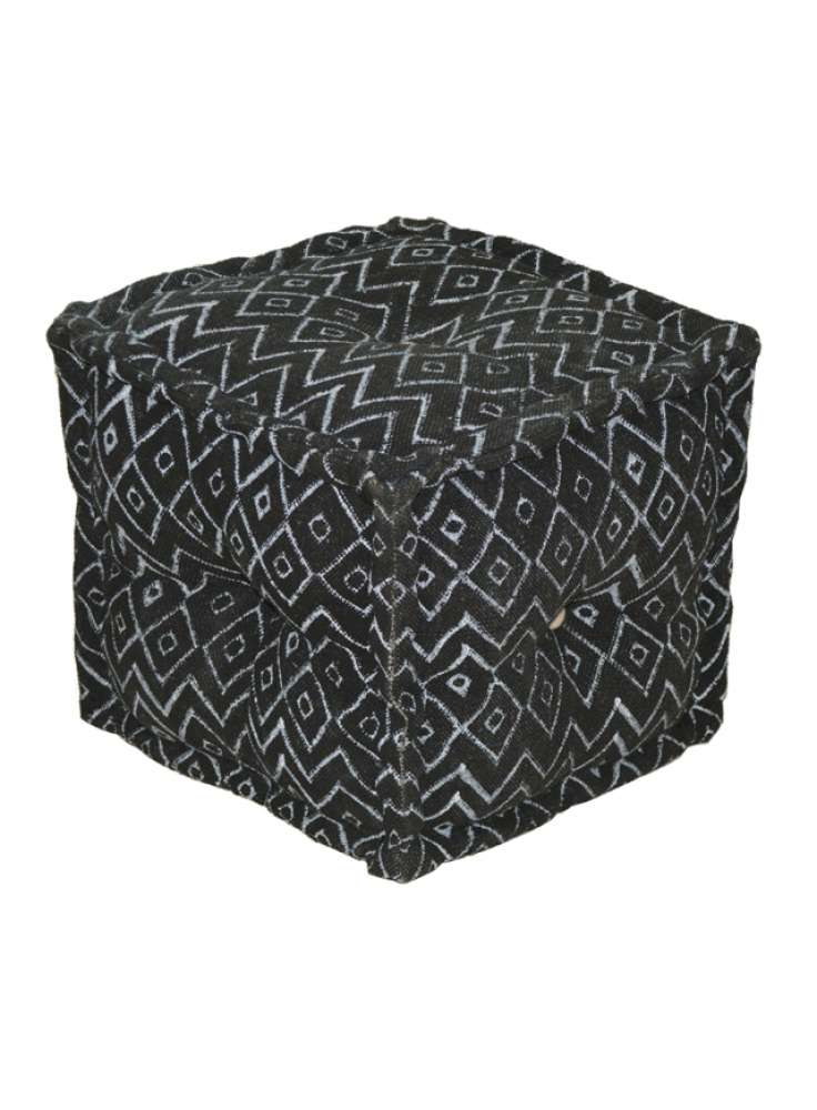 Printed Cotton Pouf Cover