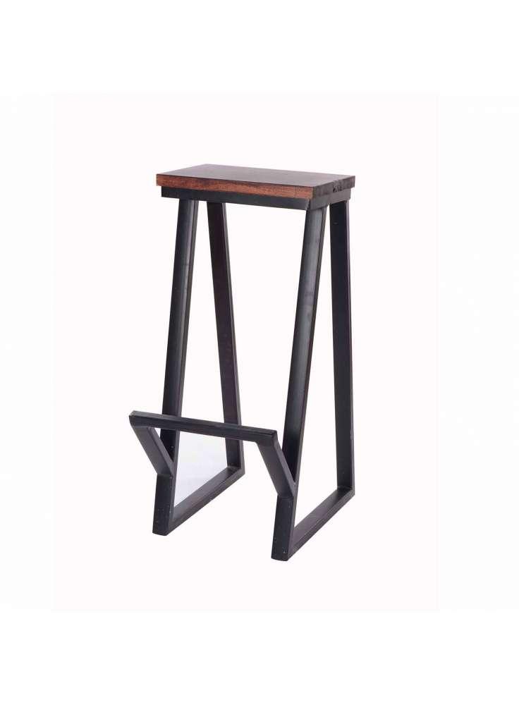 Iron Wood Bar Stool Furniture
