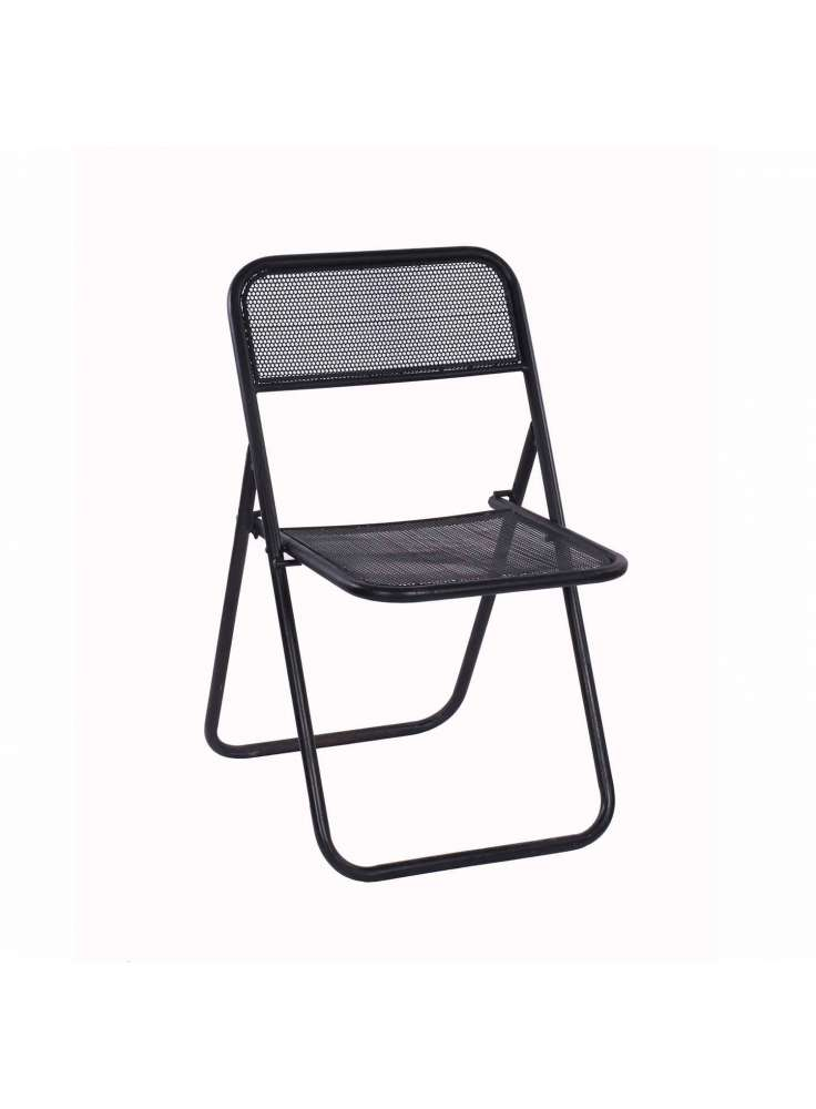 Natural Fibres Iron Folding Chair