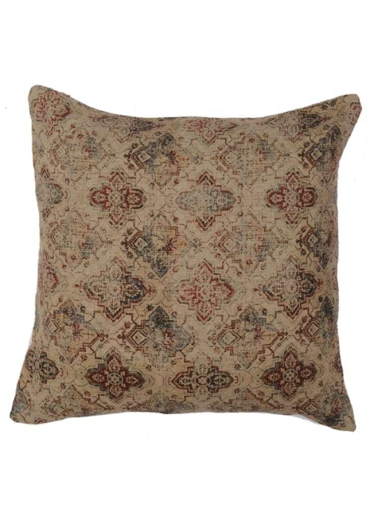 Faded Print Handmade Linen Cushion Cover