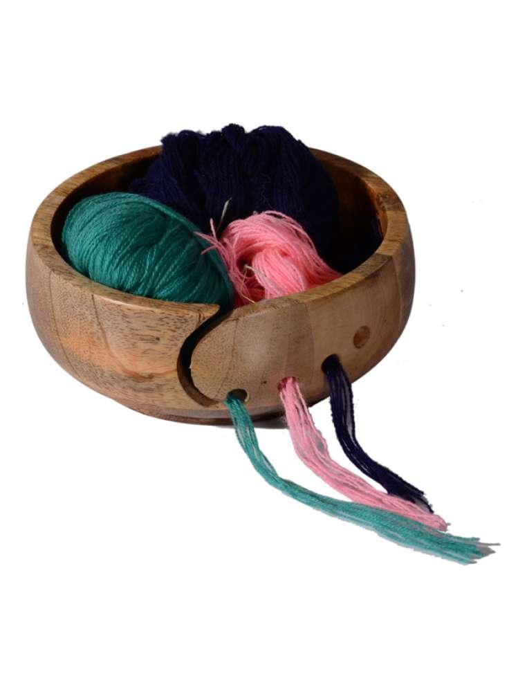 Wooden Yarn Holder Bowl