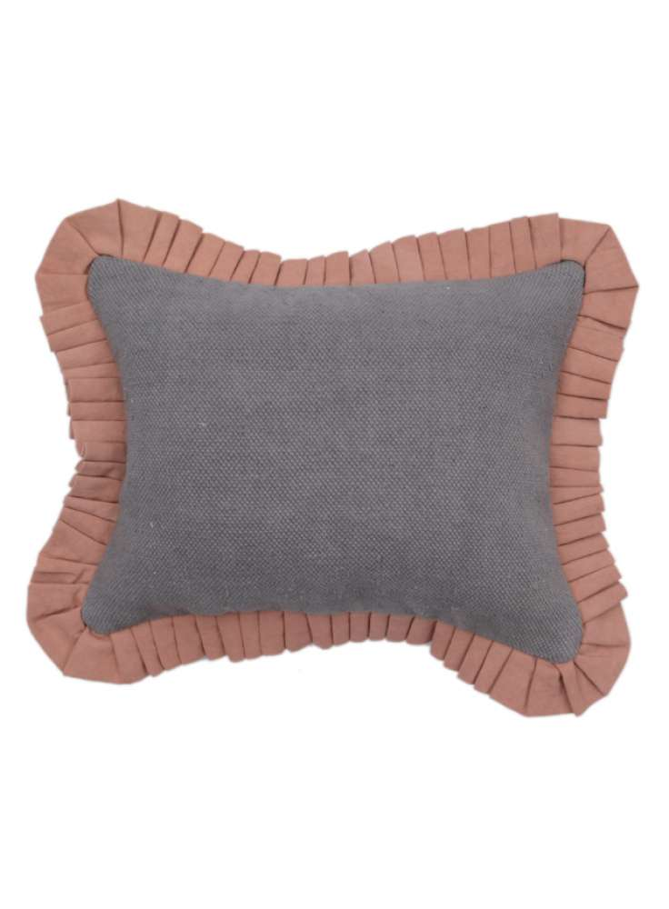 Plain cotton cushion cover with piping