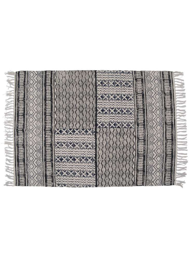 Abstract print cotton printed rug dhurrie