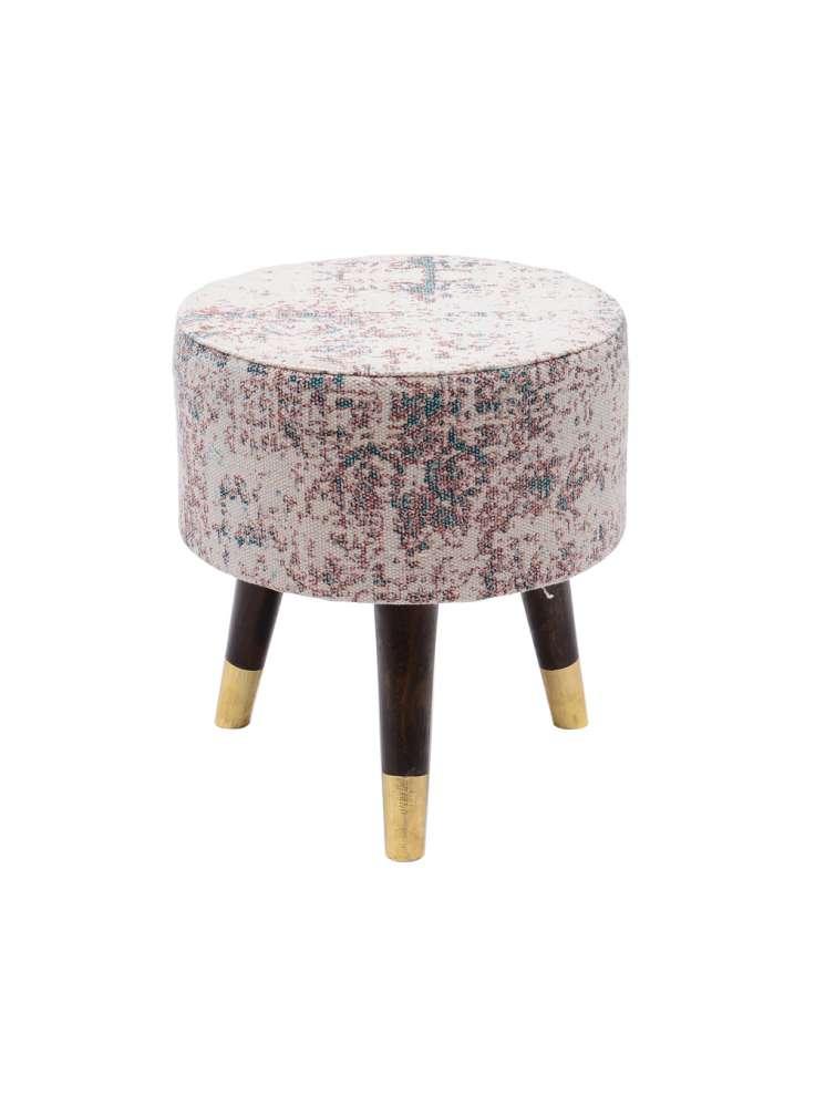 Designer upholstered ottoman stool