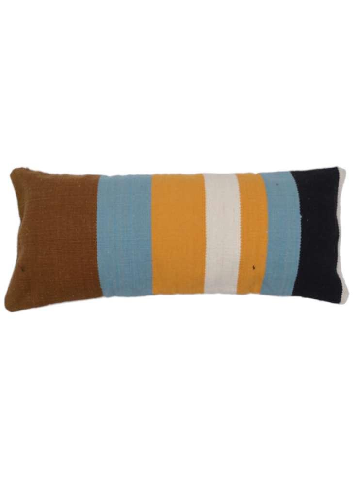 Multicolor Stripe Pattern Cotton Pillow Cover
